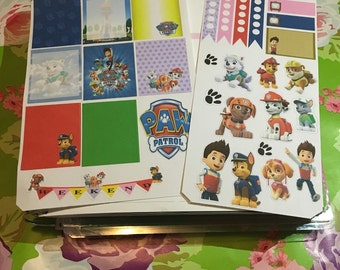 Planner Stickers: Paw Patrol inspired theme kit