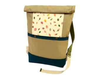 """Backpack """"Emerald & Khaki"""""""
