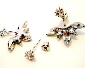 Crystal Droplet Ear Jackets