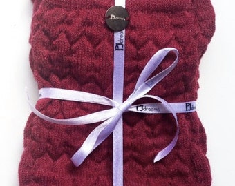 Cashmere wool Marsala PJsocks
