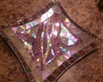 Handmade mosaic accent plate