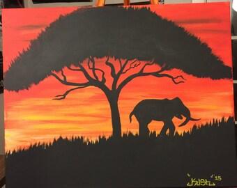 Elephant Nightscape