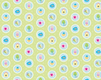 Riley Blake Designs Sweet Home Green Fabric by Melly & Me C 3733