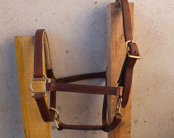 Stable size Brown leather horse Halter