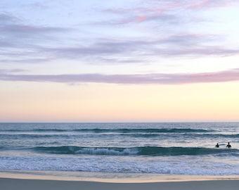 Sunset Surf Print Purple Beach Photo California Summer Art Pastel Boho Bedroom Decor Gift For Surfer Beach Lover Gift Serene Ocean Photo