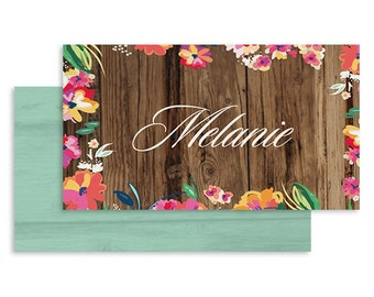 Tropical Wedding Place Card | DIGITAL FILE | The Treehouse | Printable DIY Wedding Invite, Wedding Reception, Name Card - Set of 10