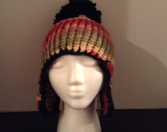 Multicolored Ear Flap Hat
