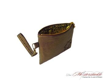 Bronze clutch joint handbag bag with handle
