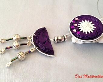 Purple Choker chain unique Upcycling