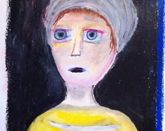 Fatty pastel portrait A3