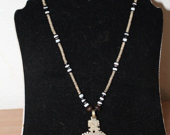 Ethiopian Cross Necklace with Beads