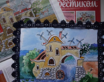 CrossStitcher magazine + original work for a pattern