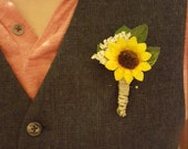 Sunflower Boutonniere