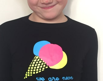 Neon Kids American Apparel T Shirt 6-7years