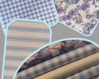 Fat Quarter Bundle 100% cotton - 5 per set 50cm x 55cm