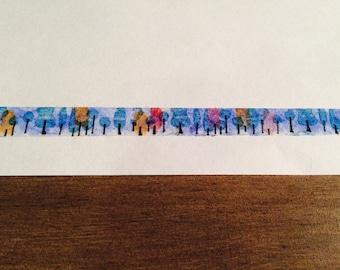 "Handmade ""A walk in the Woods"" Washi Tape"