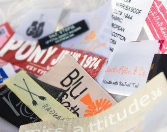 500 Custom Cotton Labels