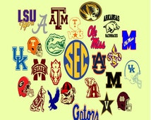 College football team logos SVG, DXF, eps cutting files for cricut and Silhouette Cameo