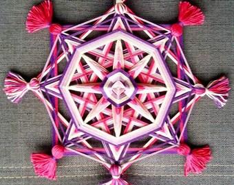 Mandala Ojo de Dios Pink