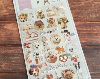 Parisien Dog Sonia Stickers