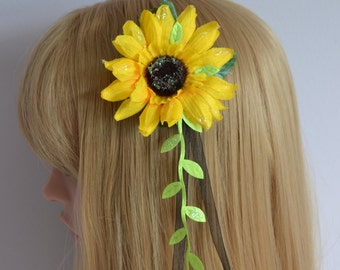 Boho Sunflower hair clip