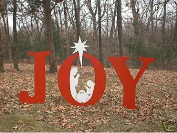 joy christmas nativity creche manger crib jesus christ yard