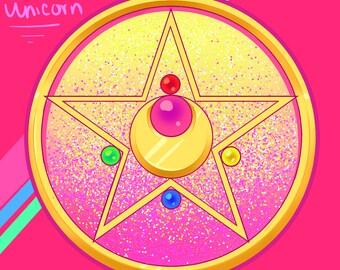 Sailor Moon Brooch/Compact Illustration