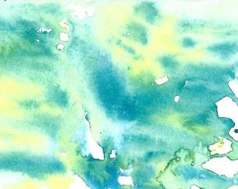 """Original Art Print, """"Algae Water"""""""