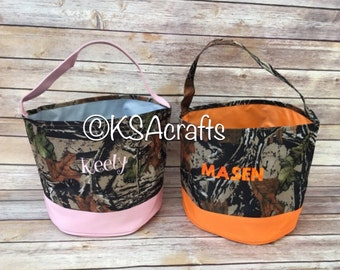 Camo Personalized Easter Basket, Halloween Camo