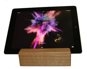 Solid Oak Ipad / Tablet Holder Stand
