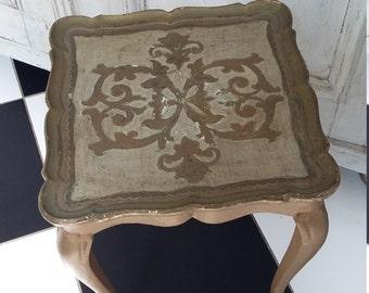 Beautiful Vintage Florentine Gilt wood,Italian Table
