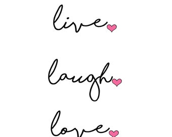 Typography print - live laugh love