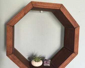 Octagon Wooden Shelf
