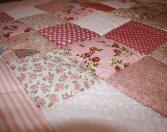 Pretty in Pink Baby Girl Patchwork Quilt
