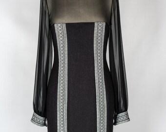Black and White Little Black Dress