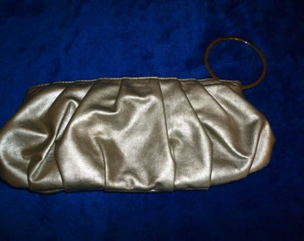 Wristlet silver grey evening bag