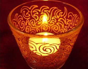 20 x Dragon Swirl Wedding Favour Tea Light Candle Holders (Minimum order size 20)