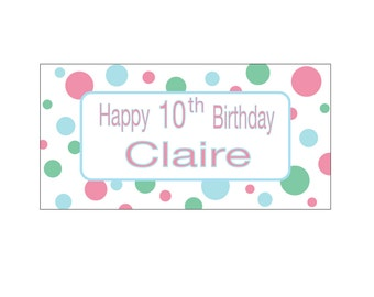 Birthday Banner ~ Pink Polka Dot
