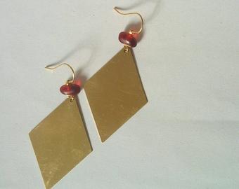 Gilt mirrors - earrings