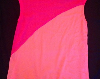 Pink Colorblocked Top