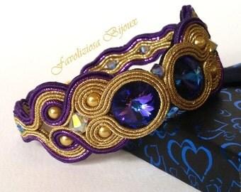 """Bracelet soutache """"Purple Moons"""""""