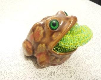 Vintage Frog Shaped Sink Scrub Holder