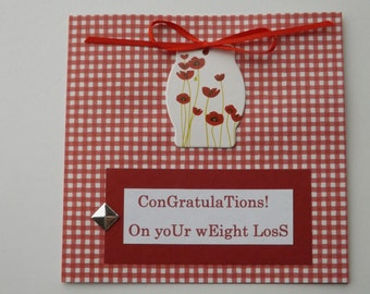Sassy Break Up Card - Congratulations on Your Weight Loss