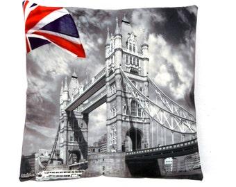 TOWER BRIDGE CUSHION cover digital printed novelty london