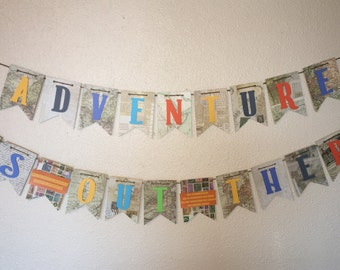 Adventure is Out There birthday banner, wilderness explore, russell, up theme, party