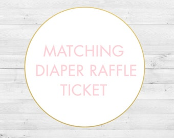 Matching Diaper Raffle Ticket, Digital File
