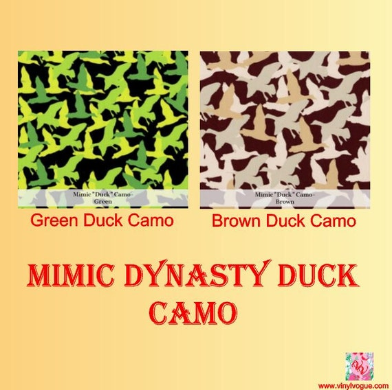 Mimic Dynasty Duck Camo Pattern Craft Vinyl Camo By Vinylvogue