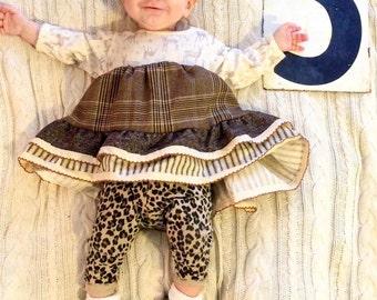 "Onsie Dress • ""i love you deerly"" • Baby Girl Dress"