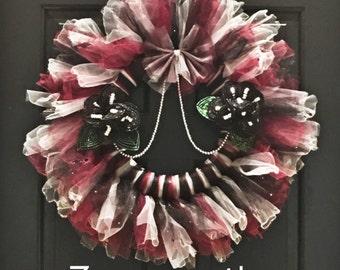 steampunk halloween wreath victorian wreath tulle wreath gothic halloween