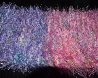 Child's Pink and Purple Scarf